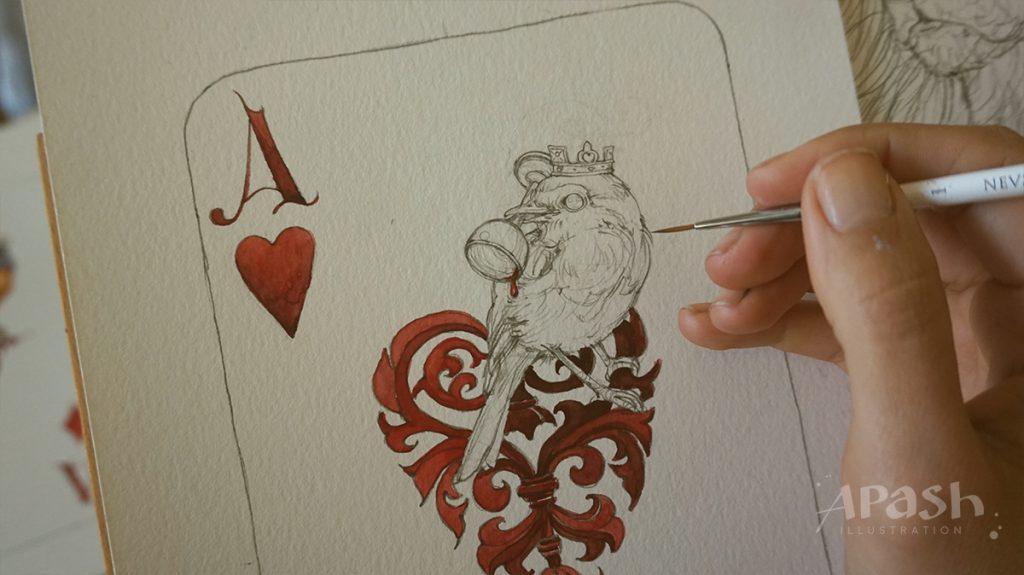 Картинката не може да има празен alt атрибут; името на файла е apash-illustration-dog-cards-poker-playing-men-kupa-dog-kingdom-work-in-process-King-Ace-bird-2-1024x575.jpg