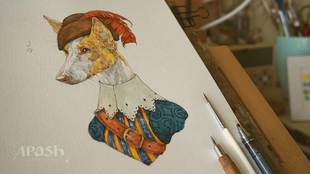 Картинката не може да има празен alt атрибут; името на файла е jack-j-valekaro-apash-dog-kingdom-queen-dala-lady-playing-cards-dog-illustration-dog-kingdom-A-aco-ace-bird-king-fisher-1024x575.jpg